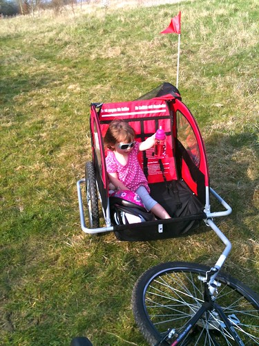 Cycle ride with the new trailer