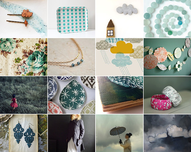 some days it just keeps on raining... : Etsy treasury curated by Emma Lamb