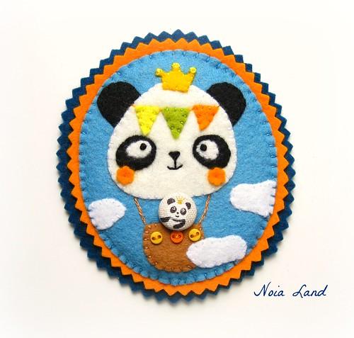 Broche Panda aerostático