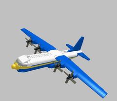 LEGO C-130T Fat Albert 1:85 Scale by SirHandyMan