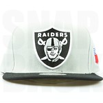 Raiders Snapbacks Grey Hats Mitchell Ness Oakland NFL Caps Logo