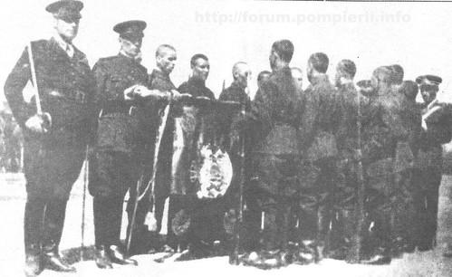 Jurămant recruti pompieri / Bucuresti -1934