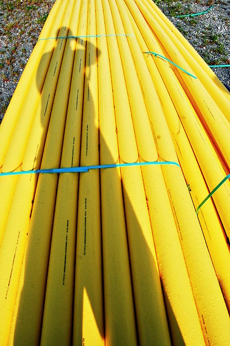 Bundled Yellow Pipe