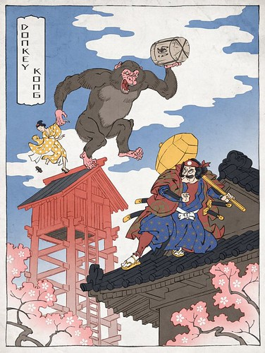 Ukiyo Nintendo Illustrations by Jed Henry
