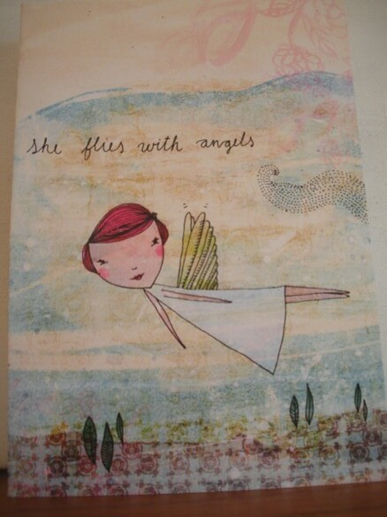 She flies with angels