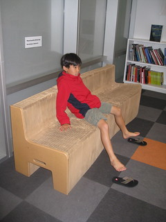 cardboard accordian couch
