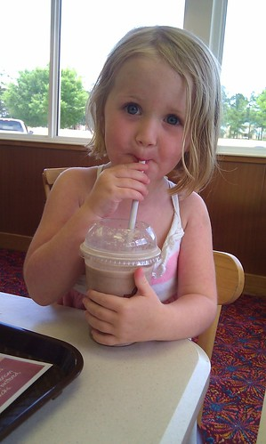 Anna and her milk shake by sweet mondays