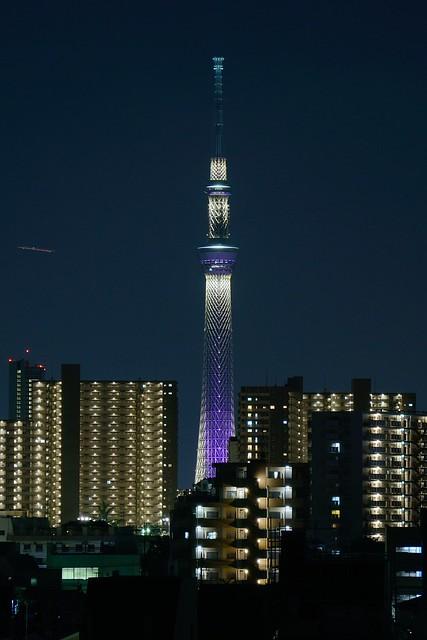 Lightened up Tokyo Sky Tree / スカイツリー・夜景