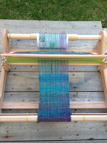 Weaving handspun