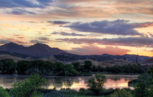 california sunset lake clouds landscape mount diablo brentwood antioch hdr sandcreek