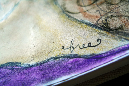 "art journal page -- ""free"""