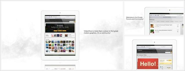 Tablet Presentation White