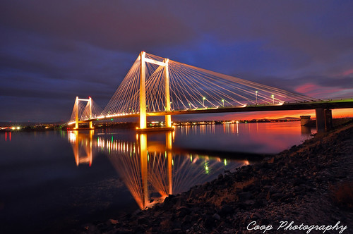 cable bridge kennwick richland pasco tri cities wa washington ed hendler lights orange sunset glow clouds pink columbia river october 26 2011 nikon d90 tokina 1116mm f28 lens coop photography