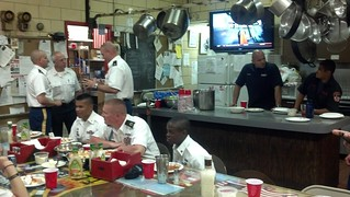 New York firefighters host Soldiers for Army Birthday lunch