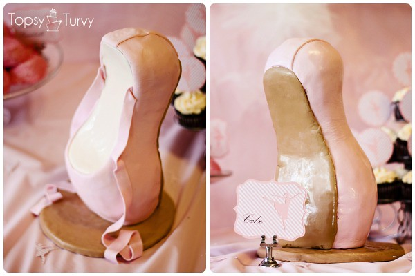 ballet-birthday-party-cake-pointe-shoe