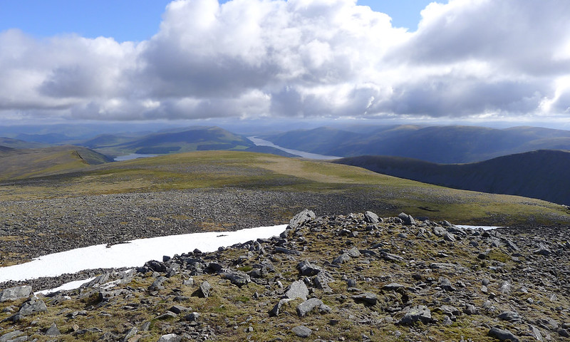 Loch Pattack and Loch Ericht from Ben Alder