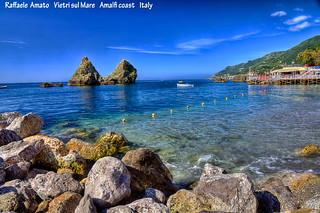 Vietri sul Mare (SA), amalfi coast, Italy : beach of the two brothers