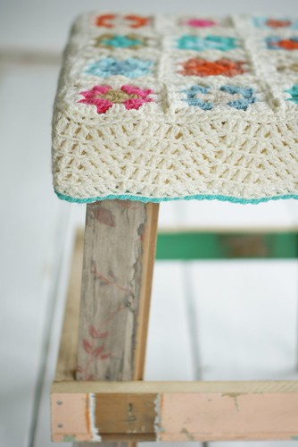 the princess on the pea by wood & wool stool