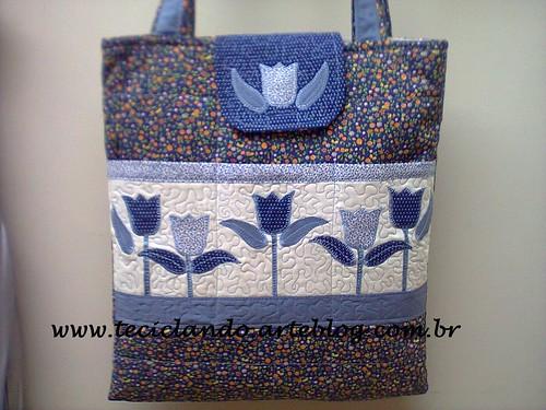Bolsa flora Sandra by Teciclando artes em tecidos