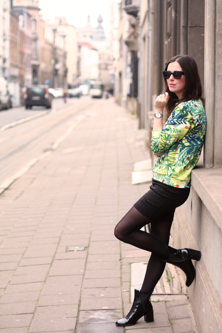 Jungle Sweater, Baroque Pencil Skirt