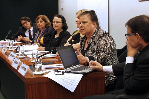 Desembargadora Ana Maria Amarante Brito participa como representante do CNJ do debate sobre alteração na Lei Maria da Penha na Câmara dos Deputados (Foto: Luiz Silveira/AgCNJ)