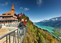 Vyhlídkové terasa uměstečka Interlaken