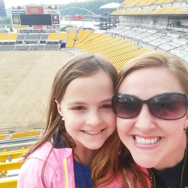 I went on a field trip with Lexie and her class today. ❤ We had so much fun touring Heinz Field and PNC Park!
