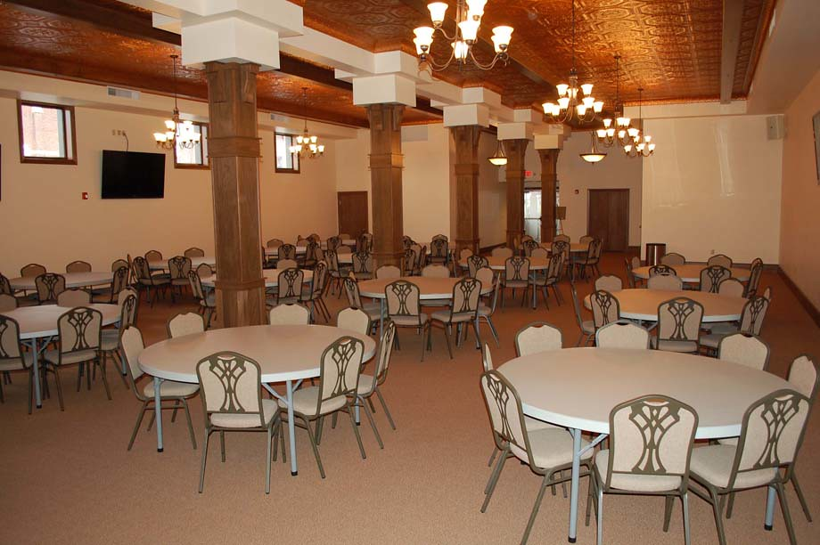 Round Tables Set up for an Event