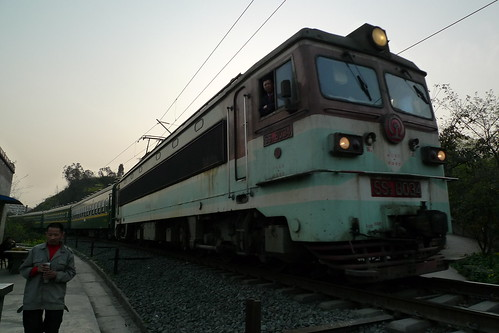 Zhaotong to Neijiang Train seen in Zigong, Sichuan, China