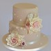 Two tier rose cake by Hilary Rose Cupcakes