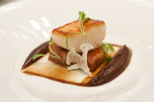 Scallop, Pork Belly, Prune