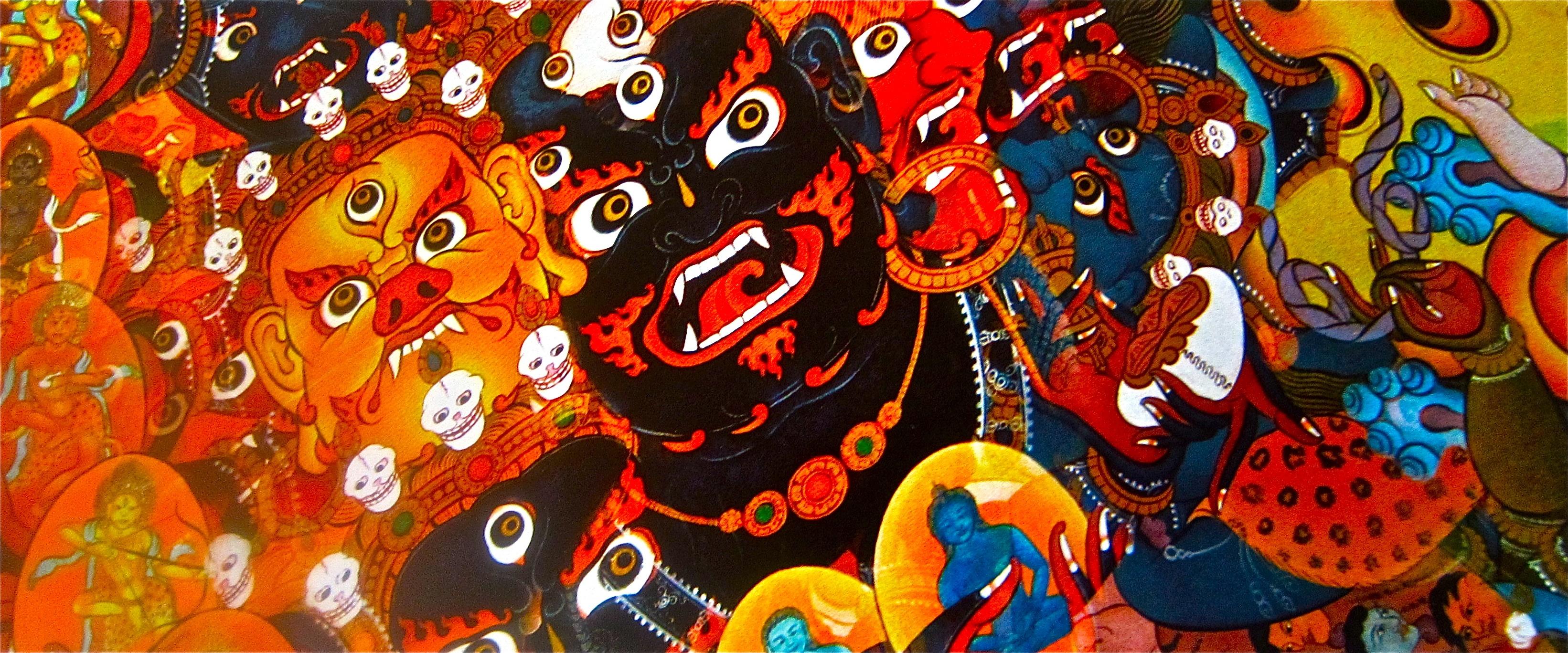 Tibet Temple Devil