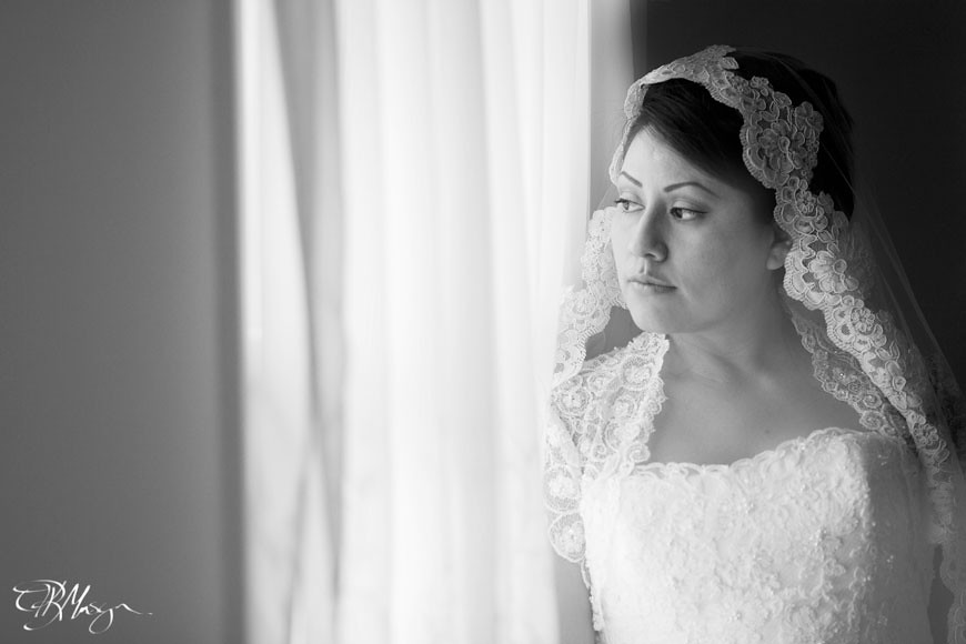 Bride-BW-Window