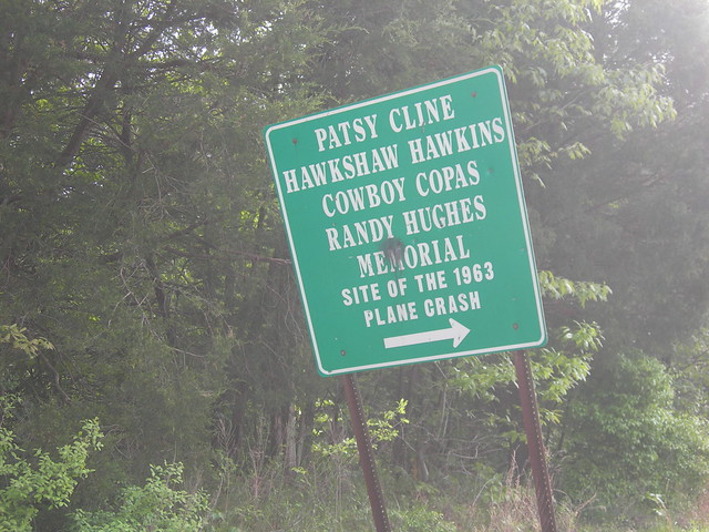 Patsy Cline Plane Crash Site Sign