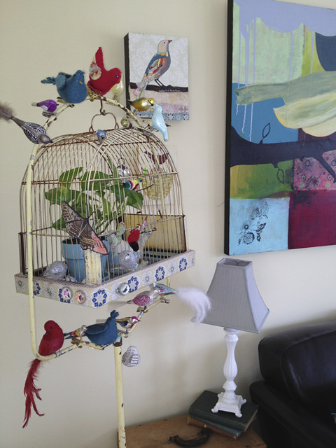 living room birdcage view