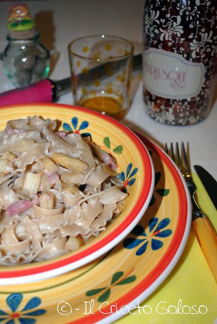 Ricciolina con asparagi e pancetta (3)