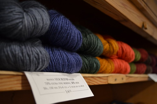 Manos at Churchmouse Yarns & Teas