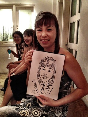 Caricature live sketching for Diageo Singapore Pte Ltd - 9