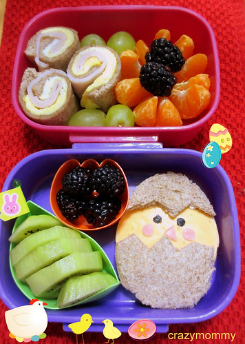 Easter Chick themed bento