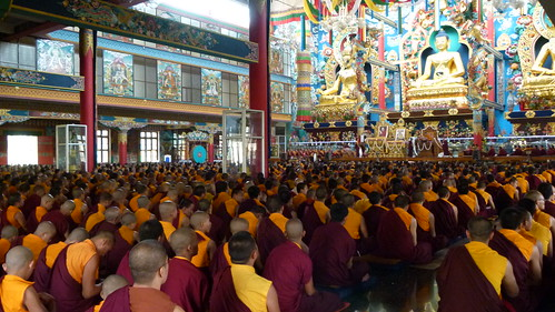 Crowded Temple During GYUTHRUL SHITHRO Wang