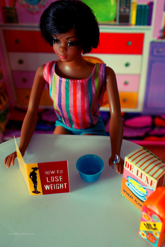 Ana goes on her first diet in the late 1960s, as portrayed by a Mattel Julia doll.