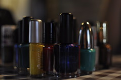 glass bottle, nail polish, cosmetics,