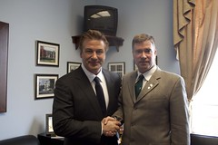 Rep.Gibson with Alec Baldwin