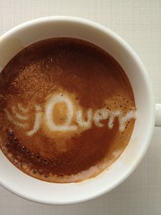 Today's latte, jQuery.