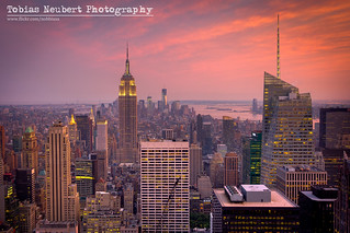 Red Skies over Midtown Manhattan