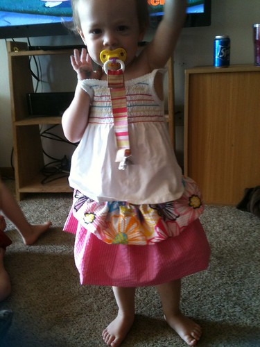 Tiered bubble skirt