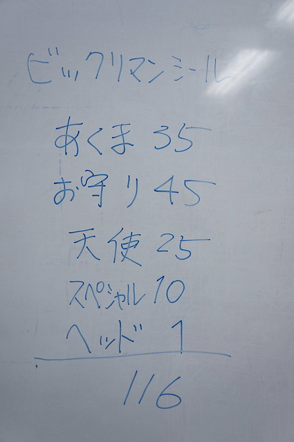 ビックリマンシールの内訳