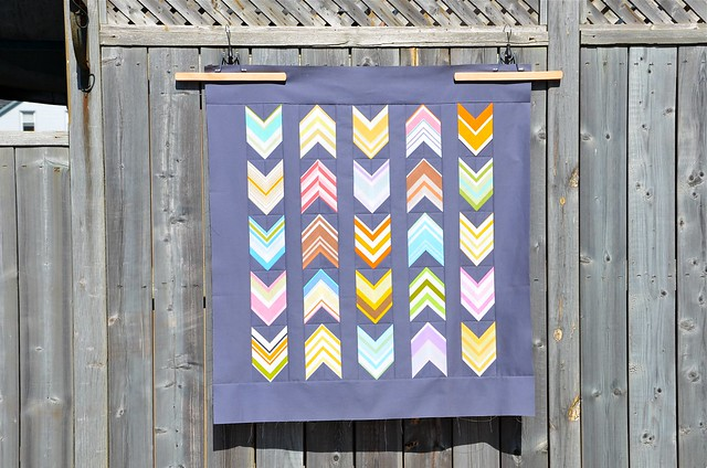 Vintage Chevrons baby quilt