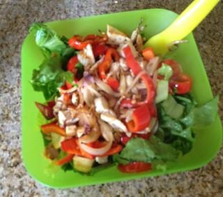 Chicken veg salad