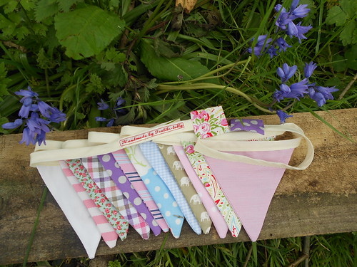 Bunting and bluebells